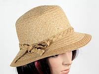 Соломенная шляпа Котелок 30 см коричневая