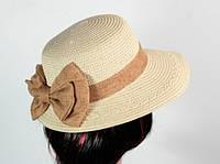 Соломенная шляпа Визье 29 см белая