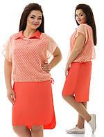 Платье с накидкой батал 726 Далас, фото 1