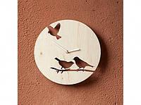 Деревянные часы Птички на ветке