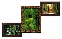 Деревянная мультирамка Лесенка Комбо золотой шоколад на 3 фото