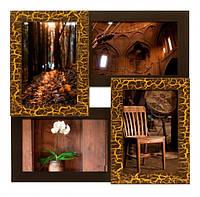 Деревянная мультирамка Золотой шоколад на 4 фото