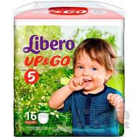 Подгузники-трусики детские Libero Up&Go 5 10-14 кг 16 шт.
