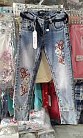 Детские джинсы на девочку с вышивкой Турция оптом 8-12 лет