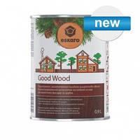 Антисептик на масляной основе Эскаро Гуд Вуд для деревянных фасадов и срубов банка по 9 литров