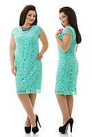 Платье батал с гипюра 729 Далас, фото 1