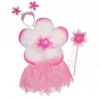 Набор Цветочек с юбкой розовый