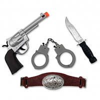 Набор Ковбоя большой (пистолет, нож, наручники, пояс)