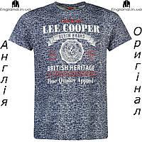 Футболка Lee Cooper мужская синяя  | Футболка Lee Cooper чоловіча