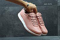 Женские кроссовки Ecco Yak персиковые (Реплика ААА+)