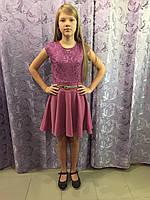Детское платье с коротким рукавом 122,134,140 см, фото 1