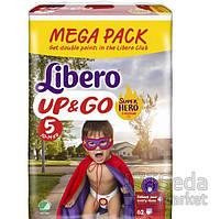 Подгузники-трусики детские Libero Up&Go 5 10-14 кг 62 шт.
