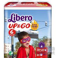 Подгузники-трусики детские Libero Up&Go Hero Collection 6 13-20 кг 20 шт.