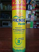 Пикник Аэрозоль от комаров, москитов, мокреца 3часа 180мл, фото 1