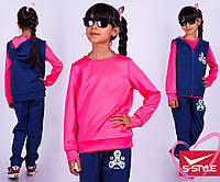 Спортивный костюм-тройка Spinner (синий + розовый)