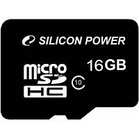 Карта памяти Silicon Power 16Gb MicroSD class 10 (SP016GBSTH010V10SP)