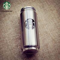 Термокружка в виде банки Старбакс Starbucks с трубочкой 450 мл., 1001717, термокружка, термокружка старбакс, термокружки интернет магазин, термокружка