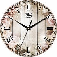 Настенные Часы Vintage Цветы у забора