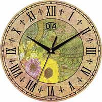 Настенные Часы Vintage Абстракция с цветами