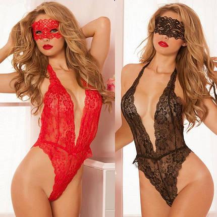 Эротическое белье с маской V-Baybydoll, фото 2