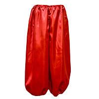 Шаровары на мальчика атласные красные,длина 35-55см