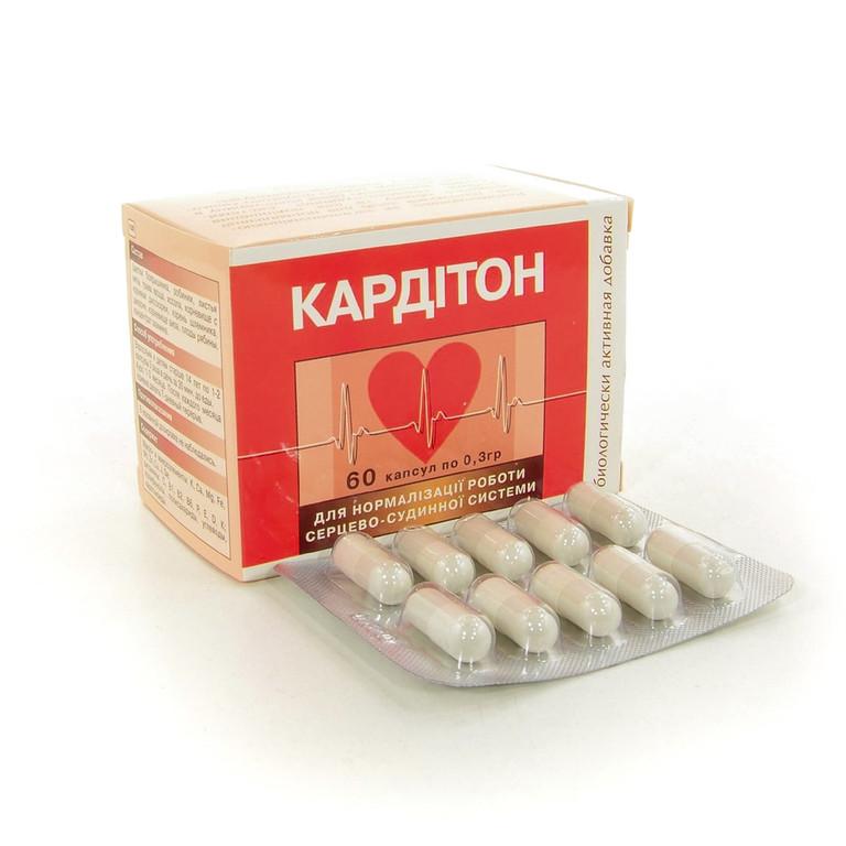 БАД Кардитон для нормализации работы сердца, 60 капсул
