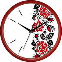 Настенные Часы Сlassic Украинский Орнамент Red