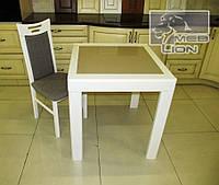 """Обеденный комплект: стол раскладной """"Милан""""  и 2 стула """"Юля"""", цвет белый"""
