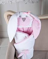 Конверт одеяло на выписку Мамина Зайка Pinck