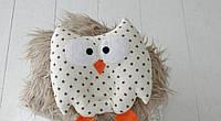 Детская подушка игрушка для новорожденных Совушка Звездочки