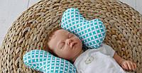 Детская подушка для новорожденных Butterfly Бирюза