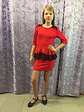 Платье для девочки украшенное кружевом 122,140 см, фото 2