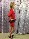 Платье для девочки украшенное кружевом 122,140 см, фото 3