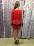 Платье для девочки украшенное кружевом 122,140 см, фото 4