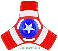 Спиннер металлический Капитан Америка Spinner антистресс уникальный