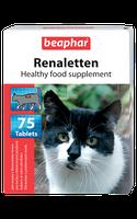 Beaphar Renaletten 75таблеток -витаминизированные лакомства для кошек с проблемами почек (10660)