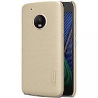 Чехол Nillkin Frosted для Motorola Moto G5 Plus золотой (+пленка)
