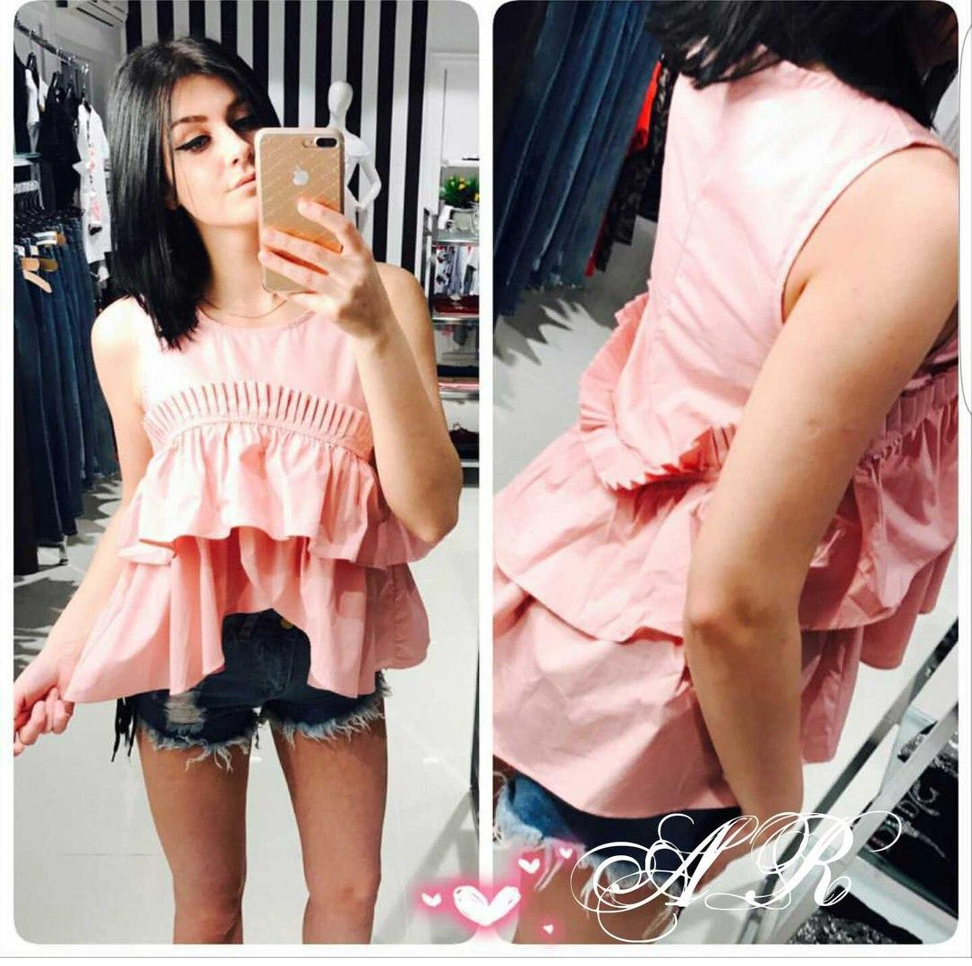 Женская симпатичная блуза, 2 цвета. АР-62-0717