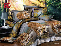 Двуспальный комплект постельного белья с тиграми