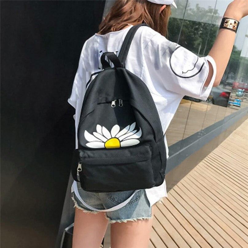Рюкзак женский Ромашка (черный)
