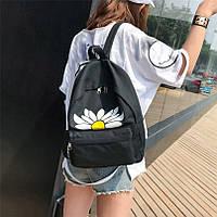 Рюкзак женский Ромашка (черный), фото 1