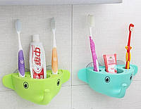 Держатель для зубной пасты и щеток Слоник