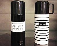 Термос с чашкой Tea Time 350 мл. для горячих и холодных напитков, 1001750, термос, термос магазине, термос в интернет магазине, термос в украине,