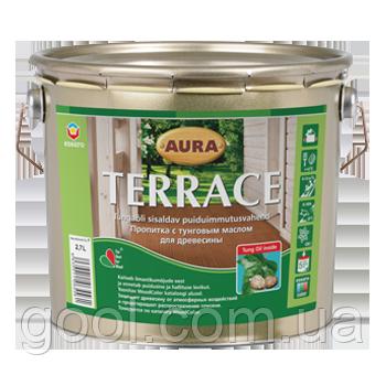 Масло для террасы и древесины Аура Терраса ведро 9 литров