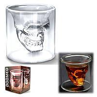 Необычный стакан Череп Doomed для алкоголя, 1001582, необычные стаканы, креативные бокалы, бокал череп, стакан
