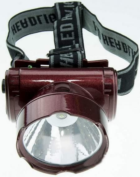 Фонарь светодиодный YJ-1898-1 аккумуляторный, налобный 1 LED