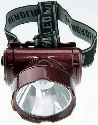 Фонарь светодиодный YJ-1898-1 аккумуляторный, налобный 1 LED, фото 2