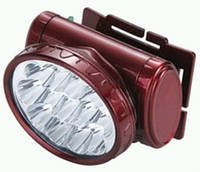 Фонарь светодиодный YJ-1898 аккумуляторный, налобный 13 LED