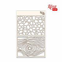 """Чіпборд для скрапбукінгу Фоновий """"Абстракція"""" 5, білий картон, 12,6х20см, ROSA TALENT"""