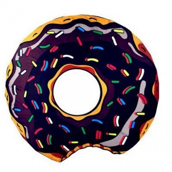 Пляжный коврик Donut brown - Интернет-магазин подарков TVOYO  в Киеве